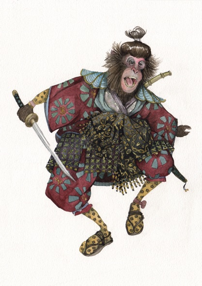 Samurai Monkey in Socks
