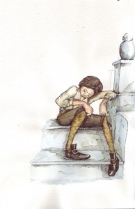 dozing boy