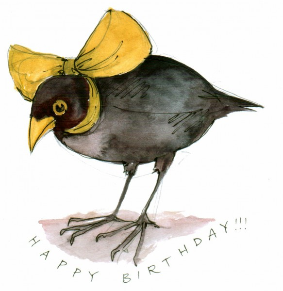 Birthday Bird Yellow